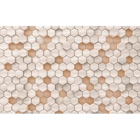 Woodcomb nude intissé