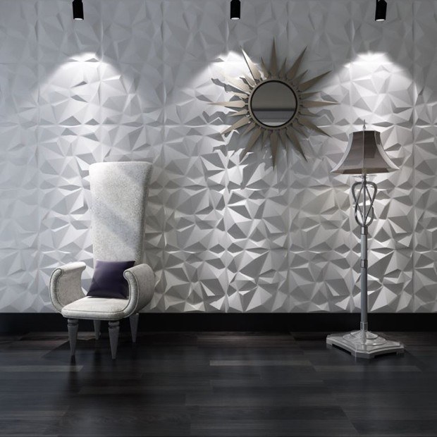 panneau mural 3d diamond. Black Bedroom Furniture Sets. Home Design Ideas