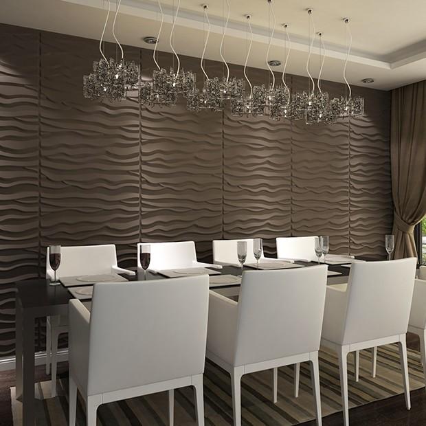 panneau mural 3d wave. Black Bedroom Furniture Sets. Home Design Ideas