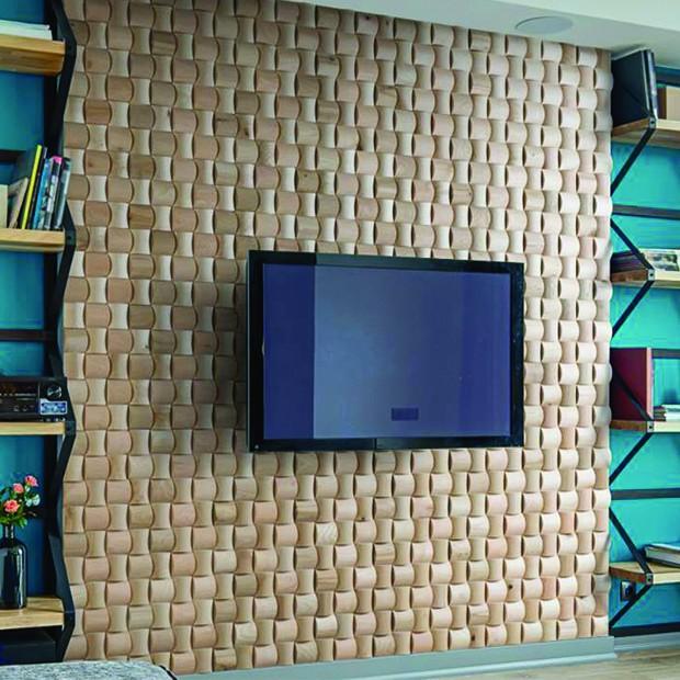 panneaux bois LAGOS salon tv
