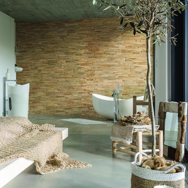 Panneau mural bois Faro salle de bains