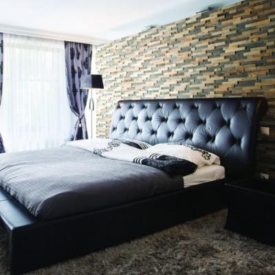 Panneau mural bois Beira pour chambre à coucher